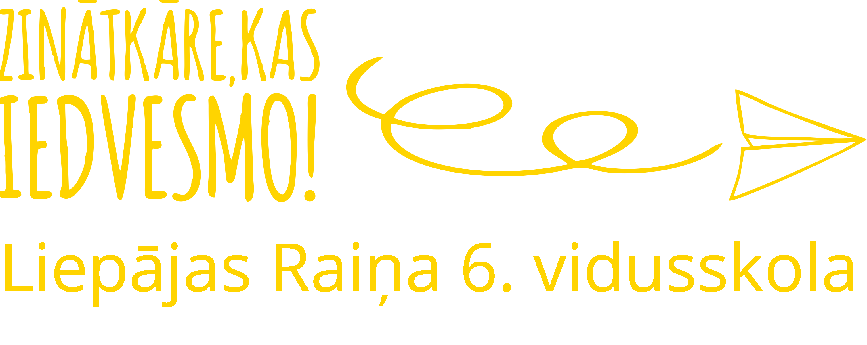 Liepājas Raiņa 6. vidusskola logo